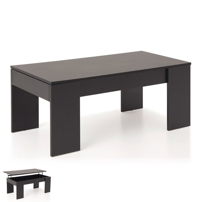table basse relevable noir evoplus maison et styles. Black Bedroom Furniture Sets. Home Design Ideas