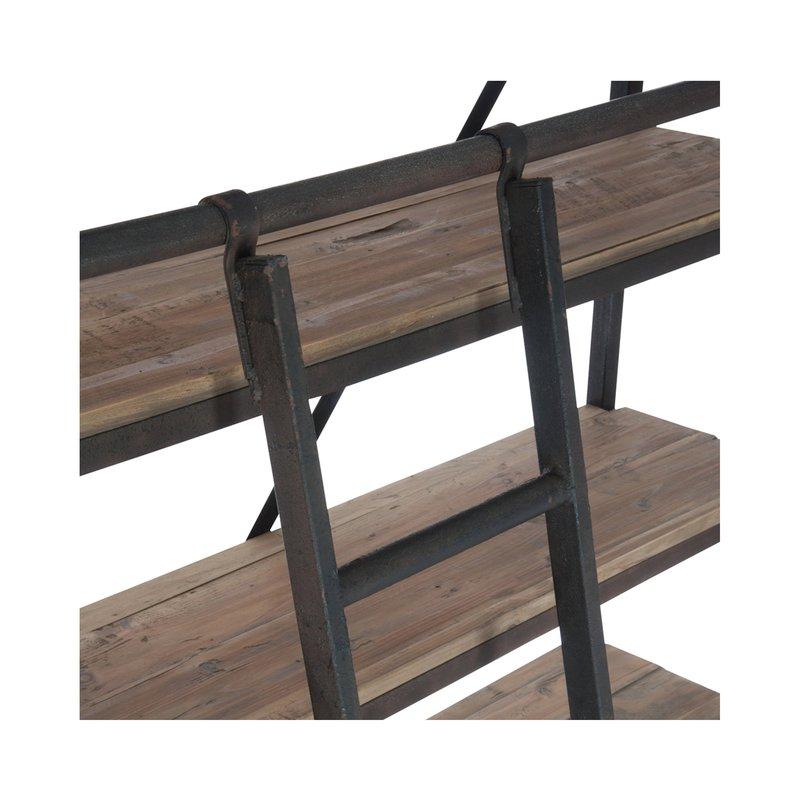 biblioth que 4 tag res avec chelle en bois et m tal maison et styles. Black Bedroom Furniture Sets. Home Design Ideas