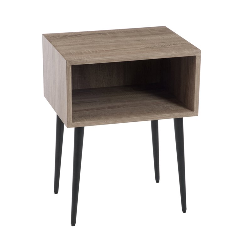 table gigogne 50x40x65cm en bois naturel maison et styles. Black Bedroom Furniture Sets. Home Design Ideas