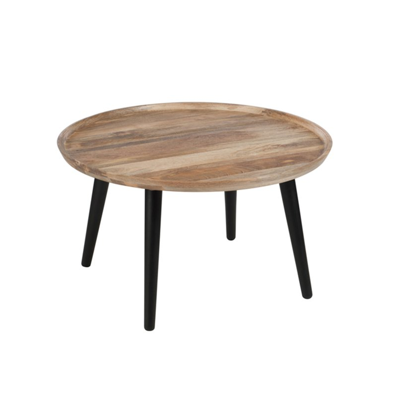 table gigogne ronde 80x45cm en bois naturel maison et styles. Black Bedroom Furniture Sets. Home Design Ideas