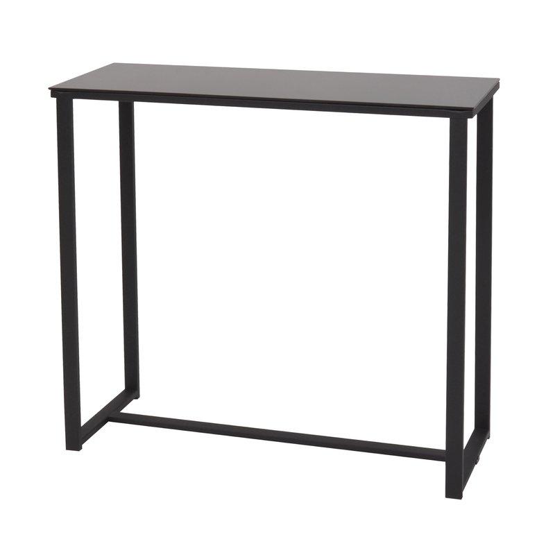 console l80xp30xh75cm en m tal et verre noir maison et styles. Black Bedroom Furniture Sets. Home Design Ideas