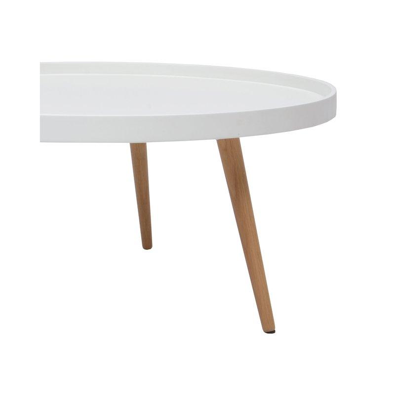 Table basse ronde 80diam en bois blanc maison et styles - Table basse ronde en bois ...