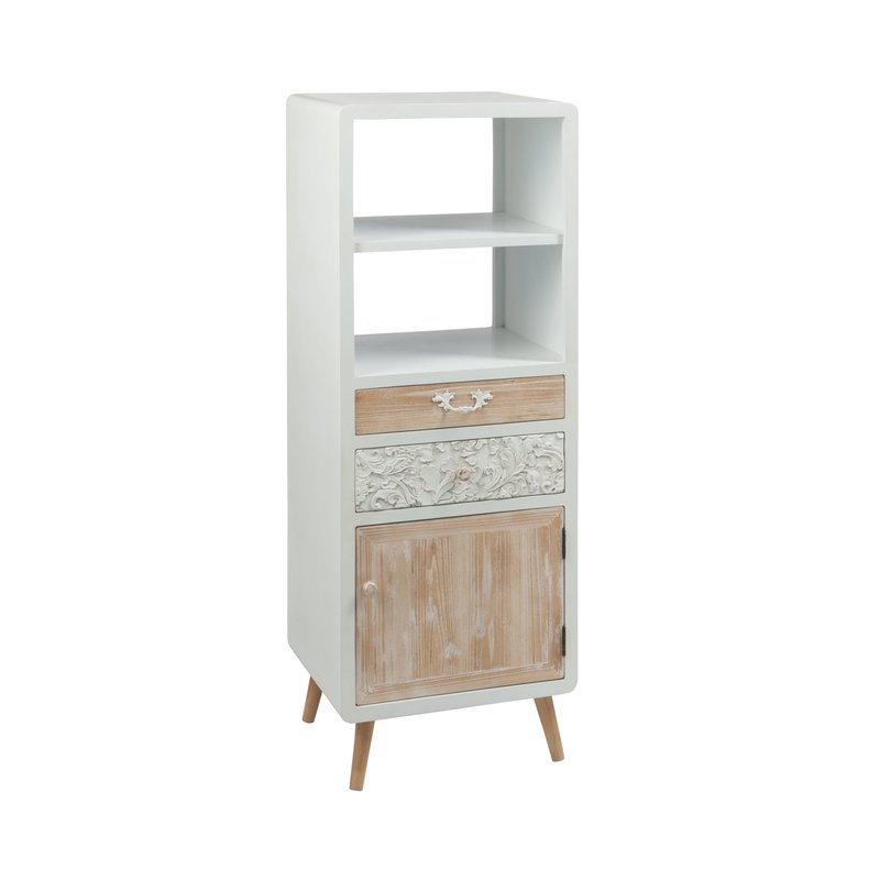 armoire 50x40x135cm en bois blanc maison et styles. Black Bedroom Furniture Sets. Home Design Ideas