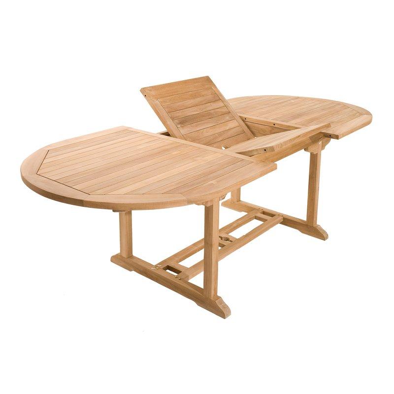 ensemble table ovale et 6 chaises en teck maison et styles. Black Bedroom Furniture Sets. Home Design Ideas