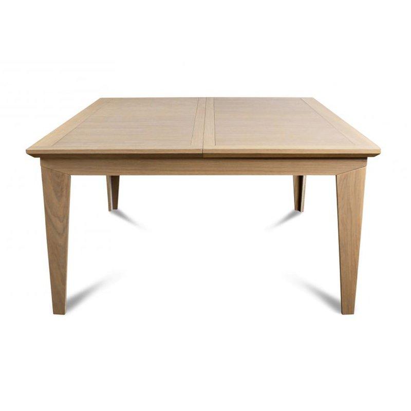 Table carr e moderne en ch ne massif maison et styles - Table chene massif moderne ...