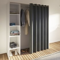Dressing extensible à rideau anthracite 1 colonne
