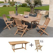 Ensemble table rectangulaire et 6 chaises