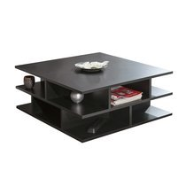 Table basse multicases - noir