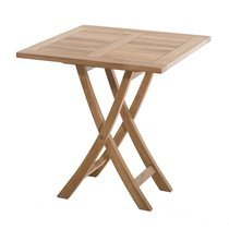 Table carrée pliante en teck 70 cm