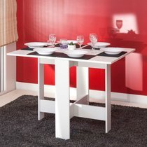 Table pliante deux abattants coloris blanc