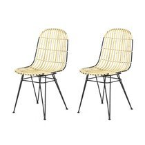 Lot de 2 chaises kubu naturel