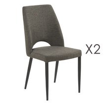 Lot de 2 chaises Minsk Anthracite 46x60x89cm