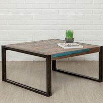 Table basse 80 cm en teck recyclé - TUNDRA