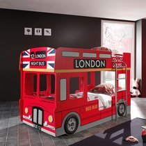 Lits superposés bus london 90x200 cm rouge