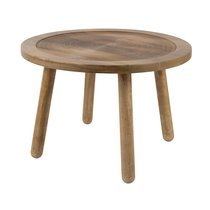 Table d'appoint ronde 60 cm en manguier naturel - DENDRON