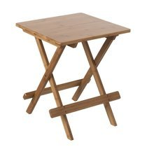 Table d'appoint 40 cm pliante en bambou naturel