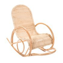 Rocking chair 58x116x96 cm en rotin naturel