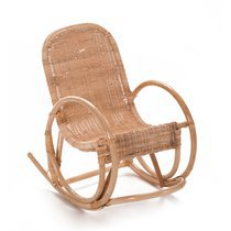 Rocking chair enfant 40x68x62 cm en rotin naturel