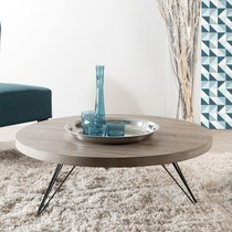Table basse ronde 90x90x32cm - LASTY