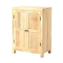 Buffet 2 portes 65x40x90 cm en manguier naturel