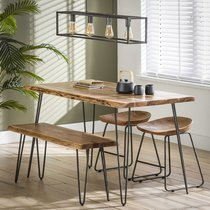 Banc de table 100 cm en acacia massif - ALONG
