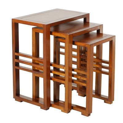 Lot de 3 tables gigognes en bois - VOTARA