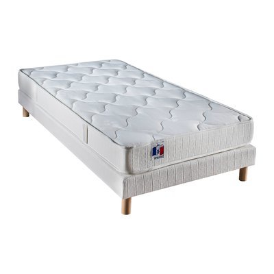 Ensemble Matelas mousse 25kg 2 faces de couchage 90 x 190
