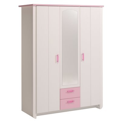 commode 3 tiroirs coloris blanc et rose indien maison et styles. Black Bedroom Furniture Sets. Home Design Ideas