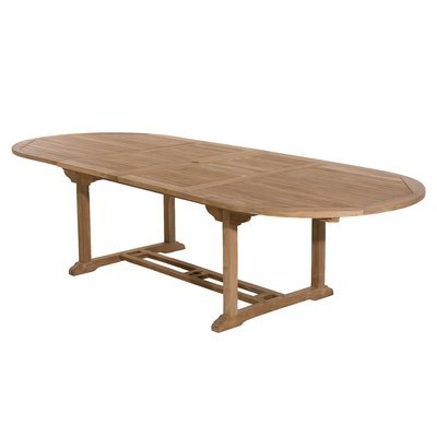 Table ovale avec allonge 200/300 cm en teck - GARDENA