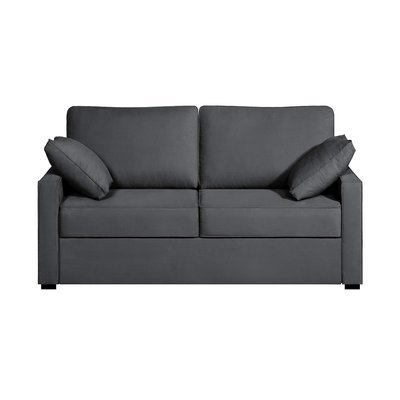 Canapé 2 places convertible - 100% coton - coloris anthracite LOIS