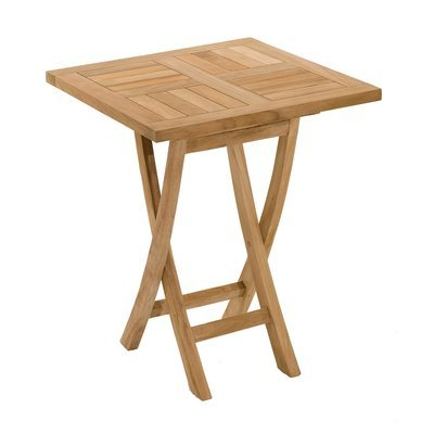Table carrée pliante en teck 60 cm