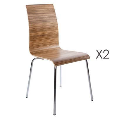 Lot de 2 chaises design 41x48x88cm CLASSICO