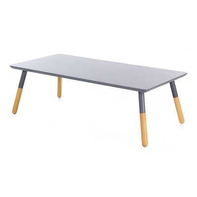 Table basse rectangulaire 120 cm plateau coloris gris  - BALTIC