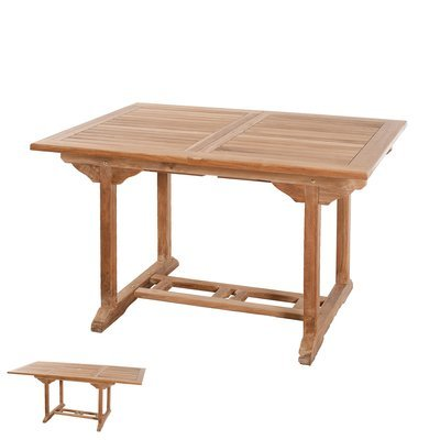 Table rectangulaire extensible 120/180x90 cm - GARDENA