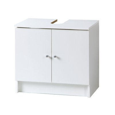Meuble sous lavabo L59xH55xP38cm - blanc