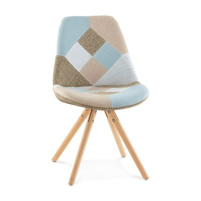Chaise patchwork - bleu