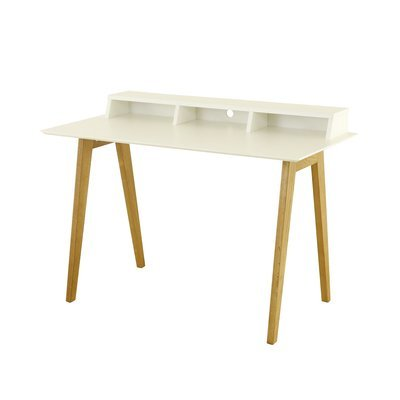 Bureau 3 niches 120 x 60 x 85,5cm blanc et chêne - BALTIC