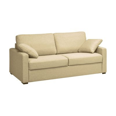 Canapé 3 places fixes en polyester beige