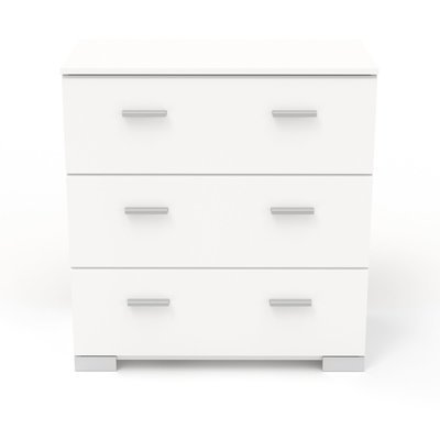 Commode 3 tiroirs blanc - HUGO