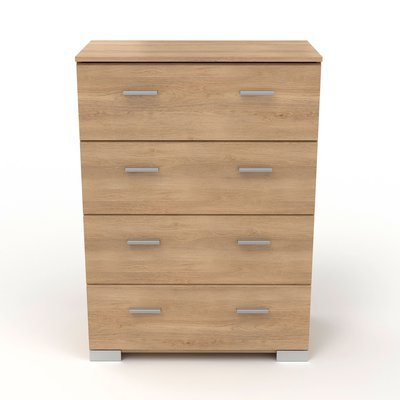 Commode 4 tiroirs naturel - CANDICE