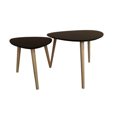 Lot de 2 tables gigognes noir - BALTIC