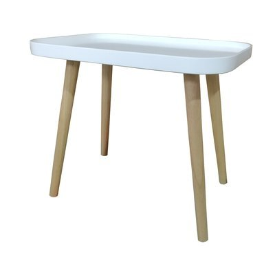 Table basse 50x43x34 cm blanc - BALTIC