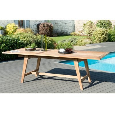 Table rectangulaire extensible 180/240 cm en teck - GARDENA