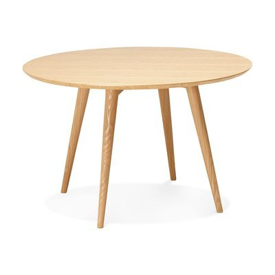 Table à manger ronde 120x120x75 cm en bois ntaurel - BALTIC