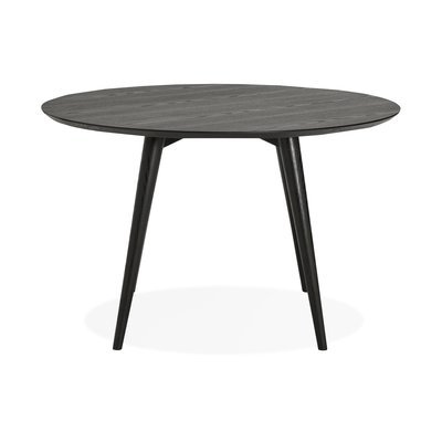 Table à manger ronde 120x120x75 cm en bois noir - BALTIC