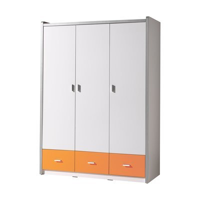 Armoire 3 portes 140,5x60x202 cm orange - ASSIA