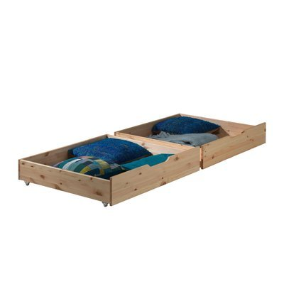 Lot de 2 tiroirs 97x88x20 cm naturel - PINO