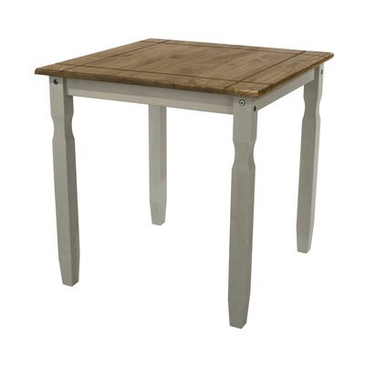 Table à manger 75x75x75 cm gris et naturel - SERGO