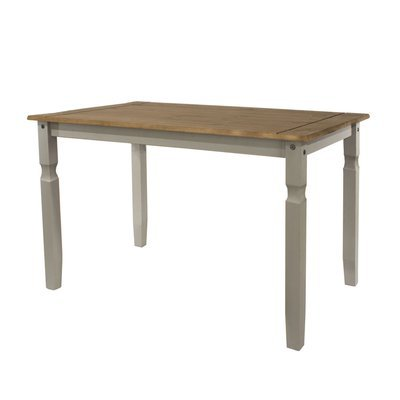 Table à manger 118x75x75 cm gris et naturel - SERGO