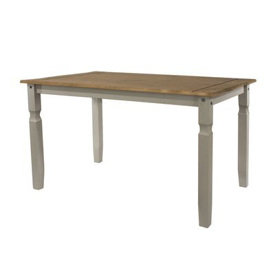 Table à manger 150x75x75 cm gris et naturel - SERGO